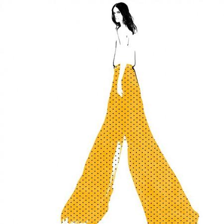 Ilustratii de moda. Judith van den Hoek.