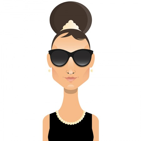 Personaje de film & ochelari de soare celebri