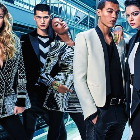 Kendall, Gigi & Jourdan. Balmain x H&M.