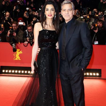 Amal Clooney, intr-o rochie YSL
