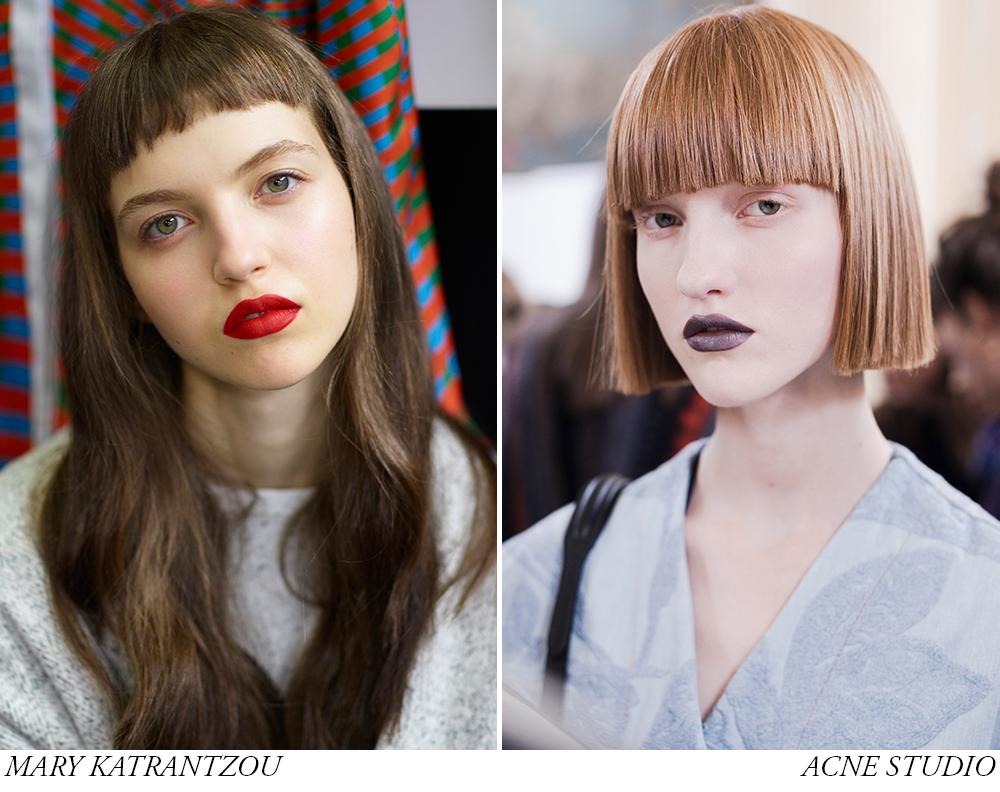 tendinte in machiaj pentru primavara vara 2017 nude makeup si roj rosu intens