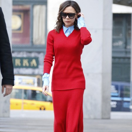 Victoria Beckham. Mixuri de culori.