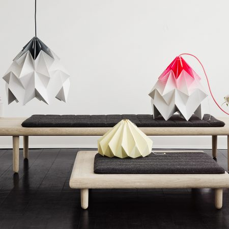 Lampi ca niste piese de origami