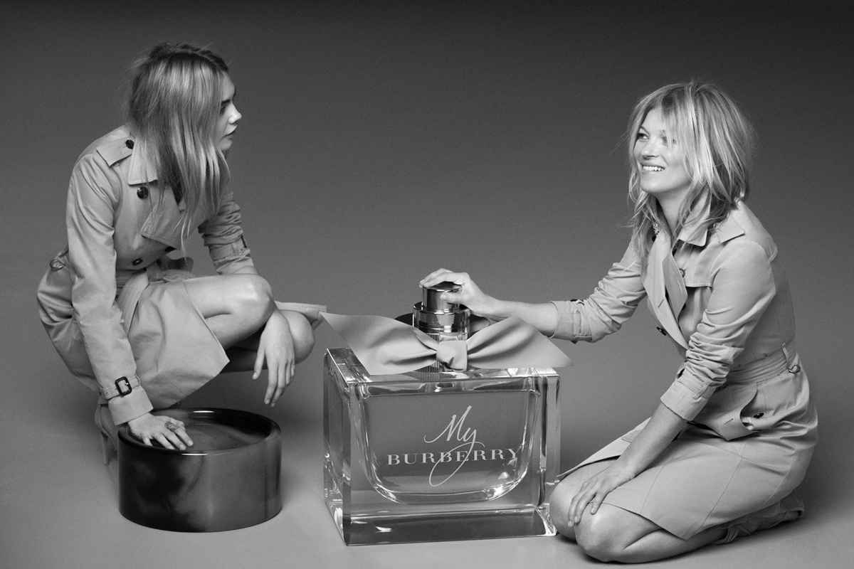 Kate Moss & Cara Delevingne. My Burberry!