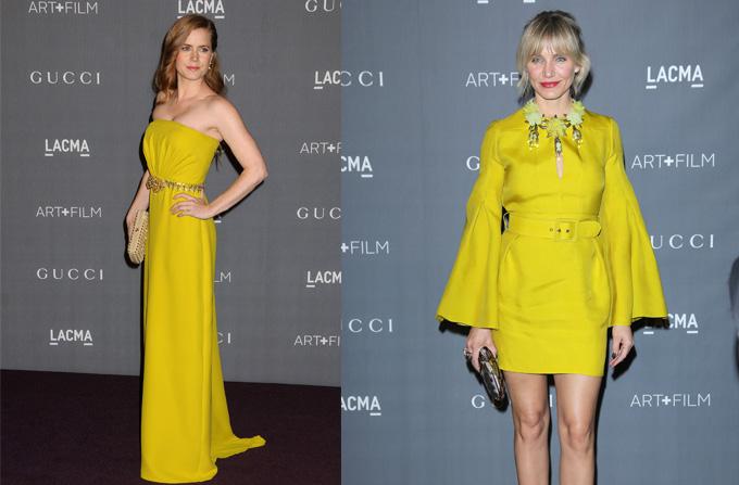 Amy Adams si Cameron Diaz in rochii Gucci