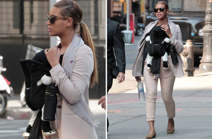 Beyonce si Blue Ivy: cat & mouse = LOVE