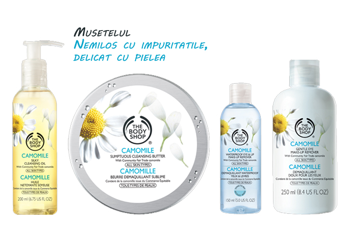 CAMOMILE – demachiere delicata de la The Body Shop