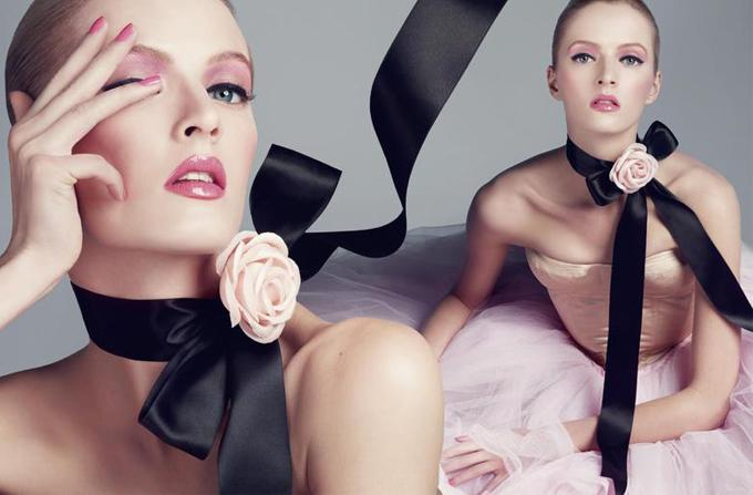 Make-up Dior Cherie Bow: un flirt intre roz si negru