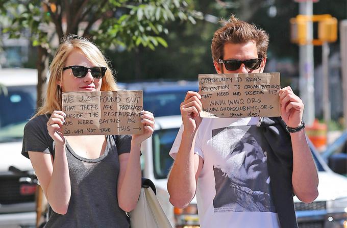 Cum au profitat Emma Stone si Andrew Garfield de paparazzi