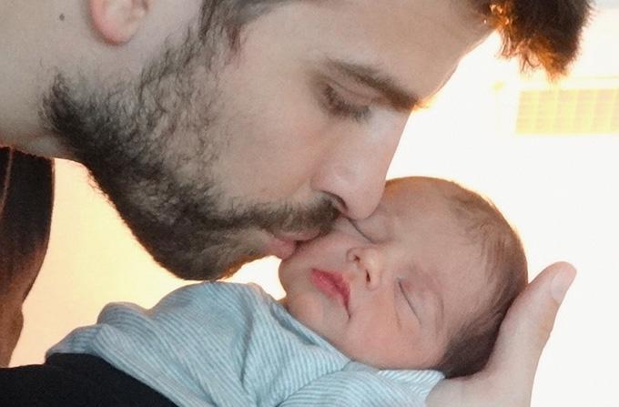 Prima imagine cu Milan, fiul Shakirei si al lui Pique