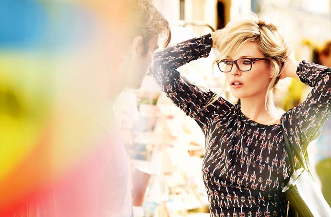 KATE MOSS, imaginea Vogue Eyewear ss 2012