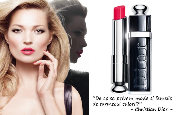 Kate Moss – imaginea rujurilor Dior Addict Extreme