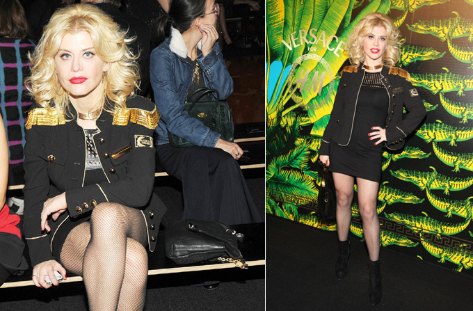 Loredana Groza la show-ul Versace for H&M de la New York