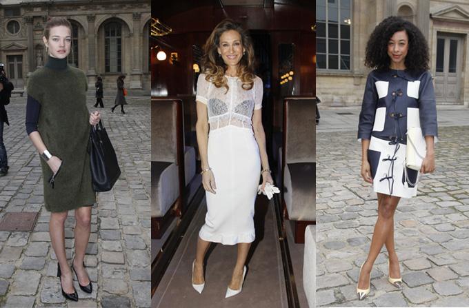 Celebritatile la Louis Vuitton Fashion Show de la Paris