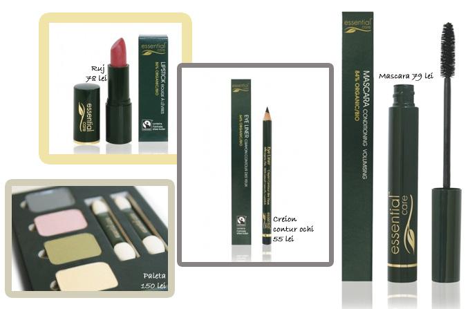 Essential Care: Produse de make-up 100% naturale
