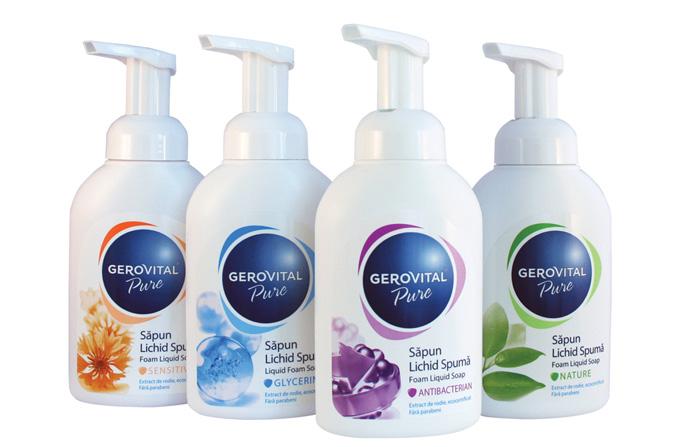 Gerovital Pure: sapunuri lichide spuma, fara parabeni