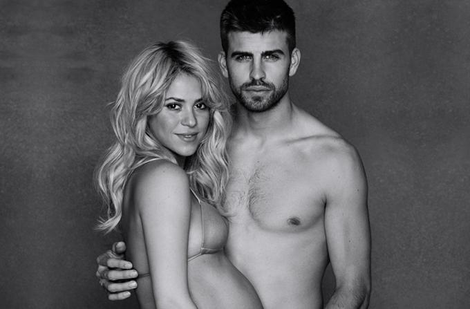 Shakira cu burtica, alaturi de Pique