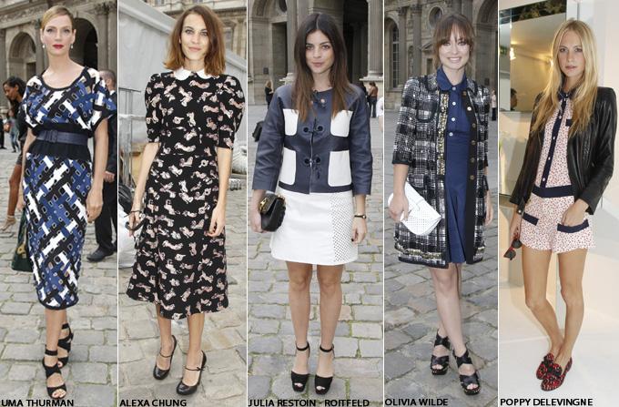 Vedetele la Paris Fashion Week