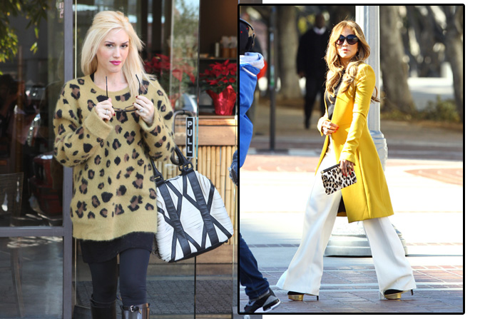 Jennifer Lopez & Gwen Stefani like Animal Print