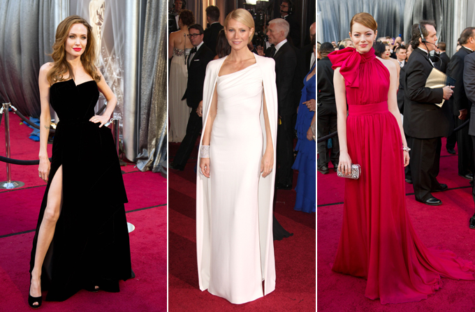 Tinutele vedetelor la Premiile Oscar 2012