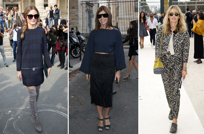 Vedetele la Saptamana Modei de la Paris