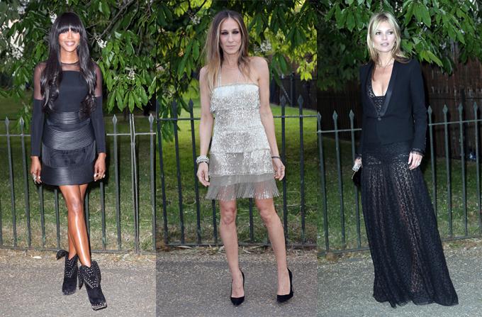 Kate Moss, Naomi Campbell si Sarah Jessica Parker in tinute de petrecere
