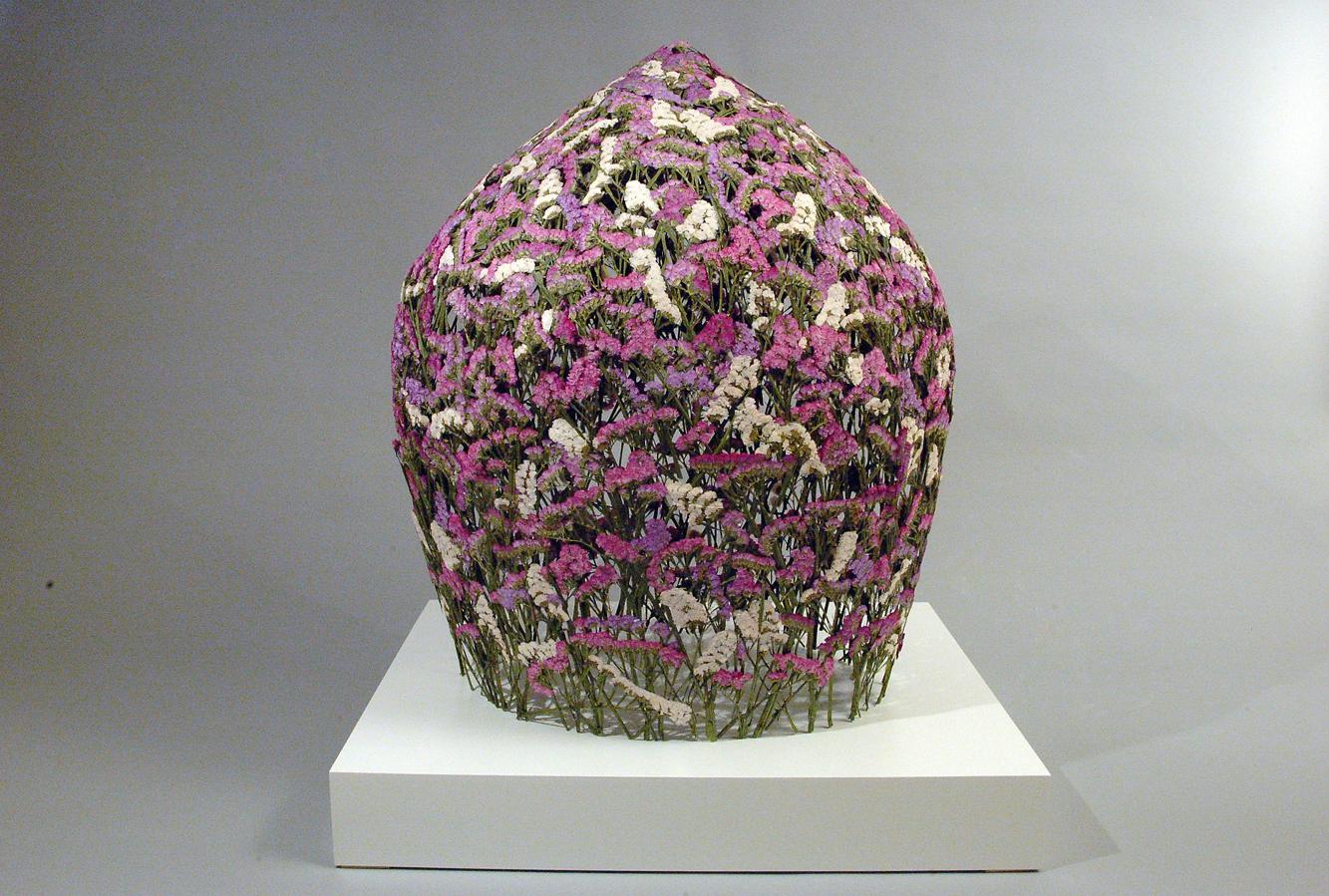 Sculpturi din flori presate