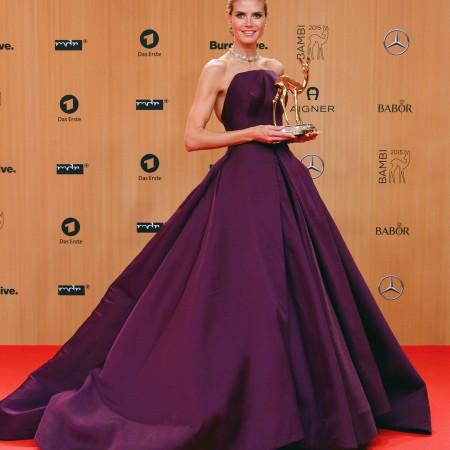 Heidi Klum, intr-o rochie Zac Posen