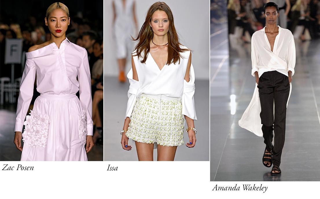 camasa alba reinterpretata catwalk
