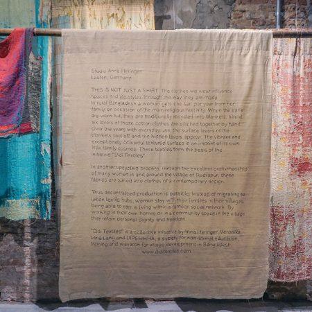 Haine cu trei vieti. Didi Textiles la Bienala de la Venetia.