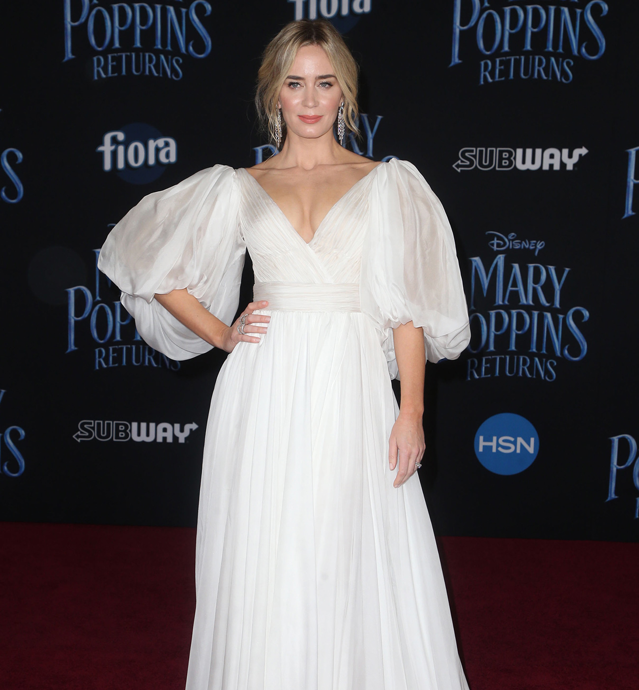 Emily Blunt, intr-o rochie Yanina Couture